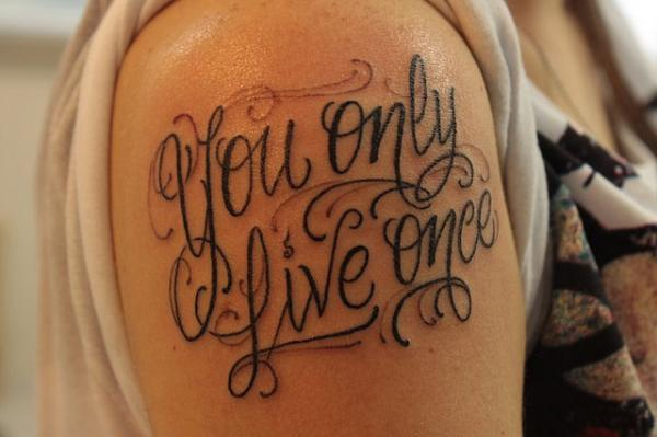 Lettering Tattoo Arm