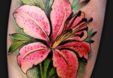 Lilly Flower Tattoo Designs