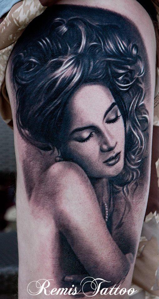 Woman Portrait Tattoo Designs