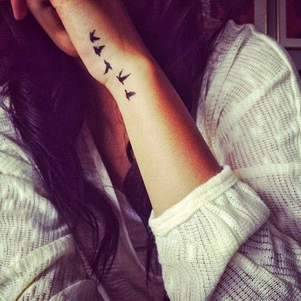 A Letter Tattoo Designs On Hand For Girls