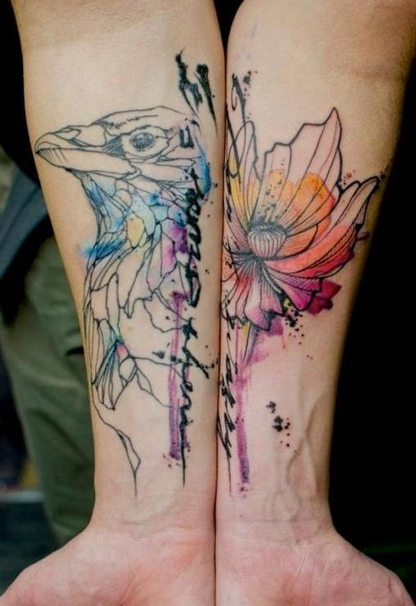 Image result for water color tattoo