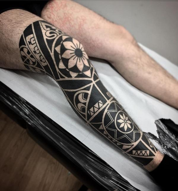 Calf Small Leg Tattoos For Men