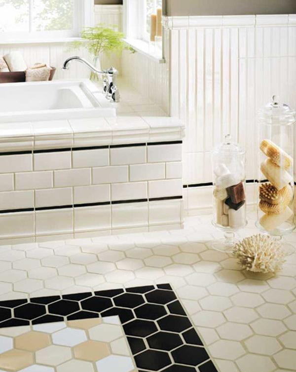 A rustic atmosphere for a charming bathroom.