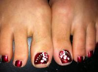 Royal Blue Toes with Pretty Miniature Flowers | Blue Toes ...