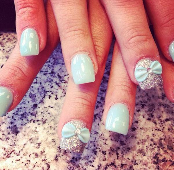 Acrylic Nail Designs Green Stis