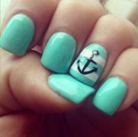 cute anchor nail art designs cute anchor nail art designs ...