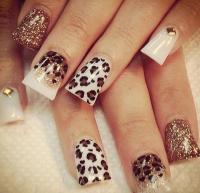 Cute Nail Designs For Acrylic Nails Cheetah