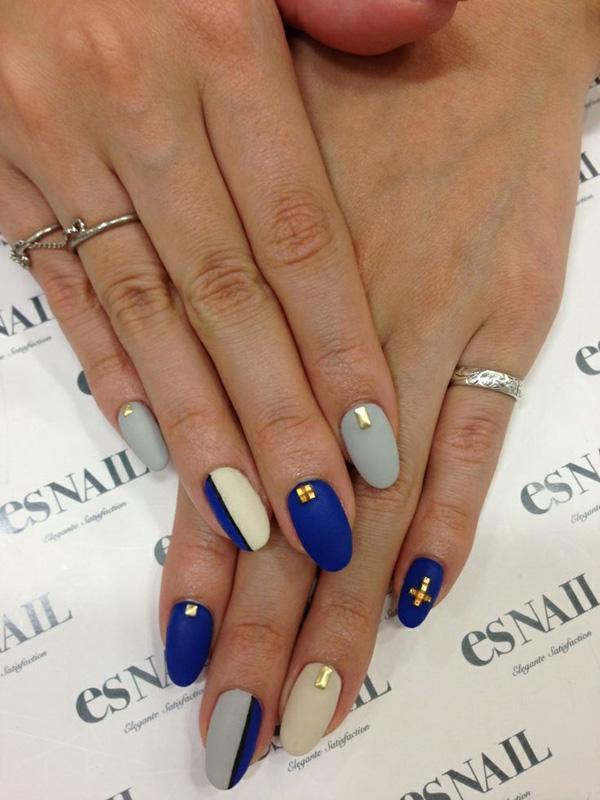 Blue And White Nail Art