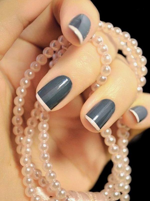 French Nail Designs Tip Nails Ideas Fixstik