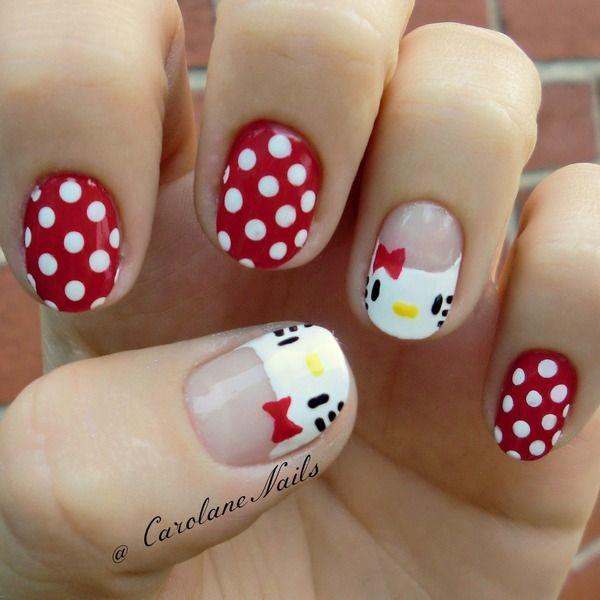 The White And Red Shades Topped With Polka Dots O Kitty S