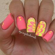 adorable water marble nail art