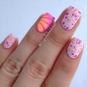 adorable water marble nail art