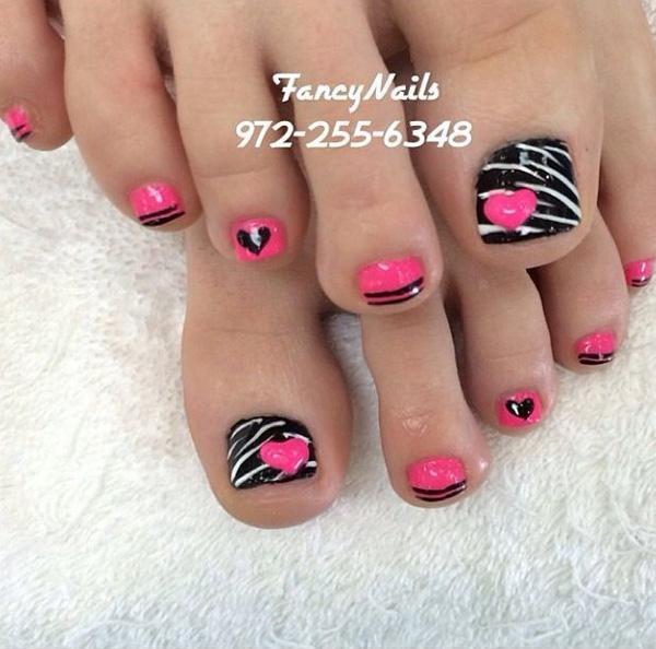 Zebra Line Inspired Toenail Art Design You Can Play Along With Like Zigzag Lines