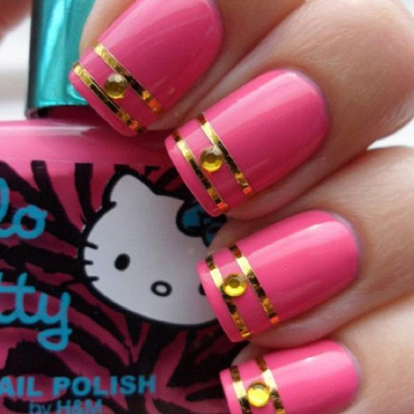 Wonderful French Tips Over A Nail Polish Design Let Your Nails Stand Out