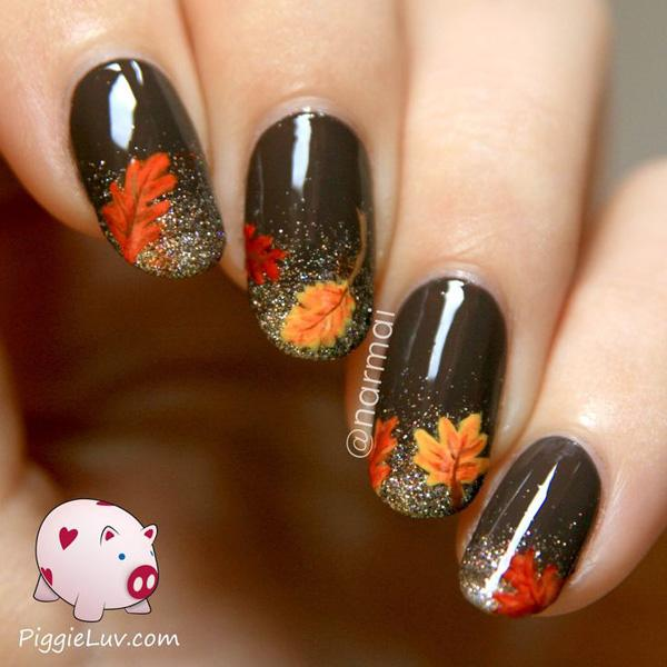 60 Pot Leaves Nail Art Salon Results By Northofm How To Do Autumn 30 Exles Easy Thanksgiving Designs With