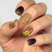amazing fall designed nail art