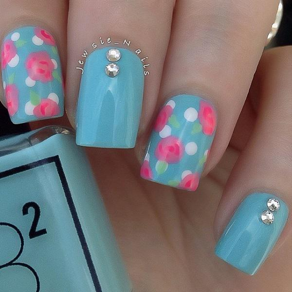 You Will Love Blue More With This Amazing Nail Art Design Themed