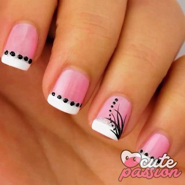 More On The Simple And Cute Looking Summer Nails Look At This Lovely White French