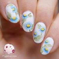 50+ Watercolor Nail Art Ideas | Art and Design
