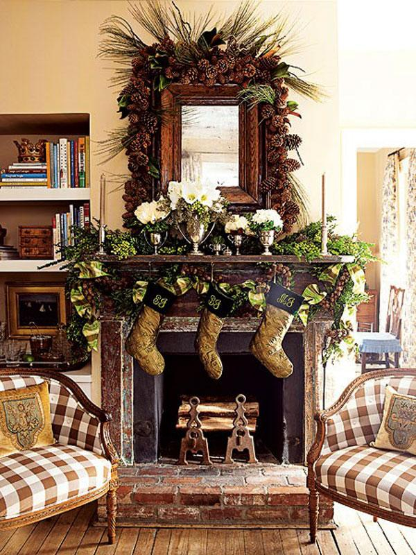 View In Gallery Gorgeous Decorations Above The Fireplace Mantel Mania 50 Festive Decorating Ideas For A