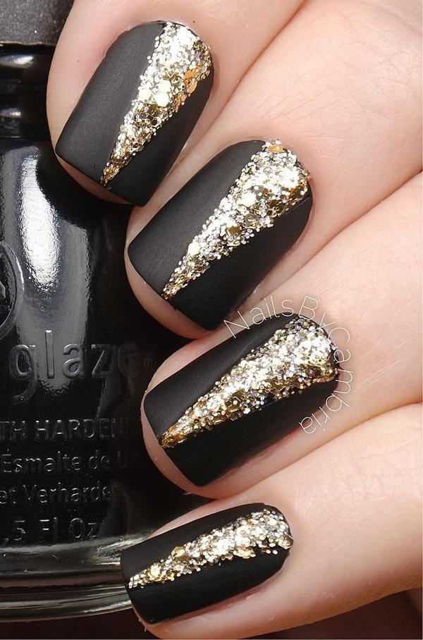 Nails Black And Gold Find Deals On