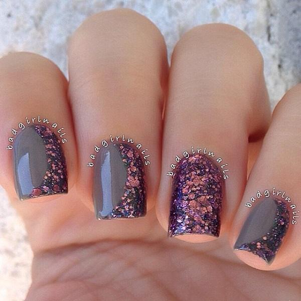 Chrome Polishes And Sequins Winter Nail Art Design Give More Sparkle To Your Nails By