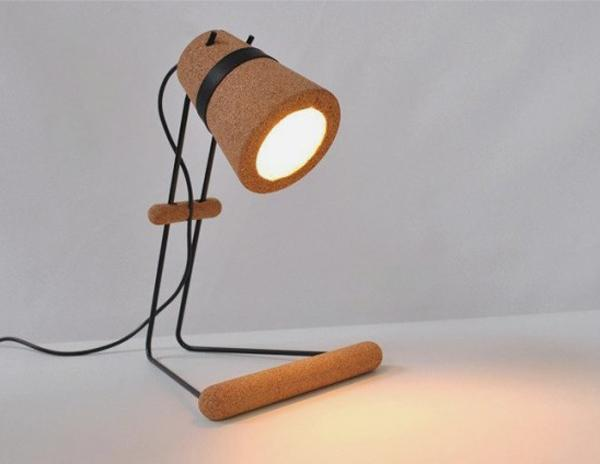 A simple yet pretty looking lamp made out of cork material. It makes the lamp lighter and easier to move from one place to another.