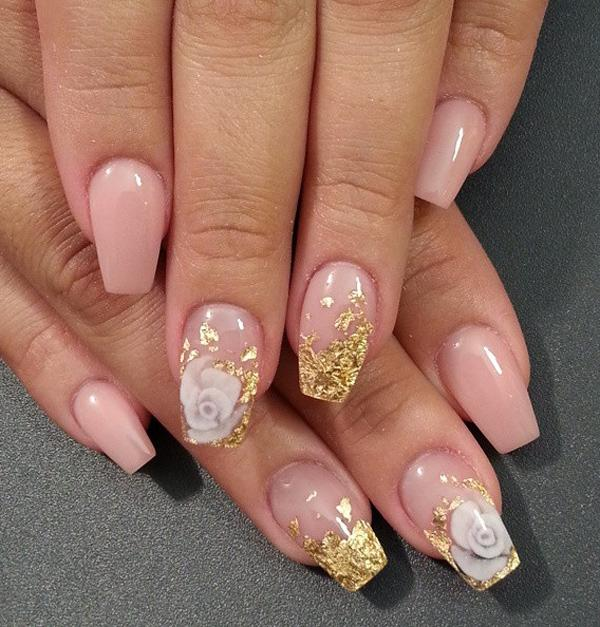 And Gold Nail Art Design Based With Polish The Nails Are