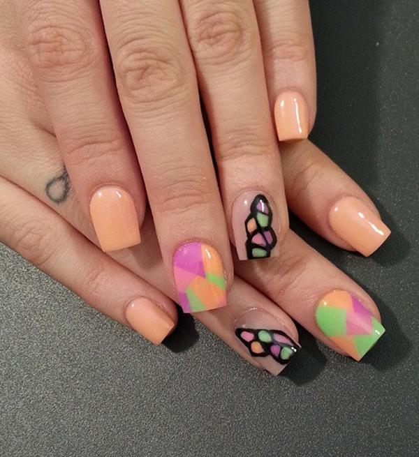 Pretty And Colorful Design On Nail Polish You Can Bine Lots Of Colors