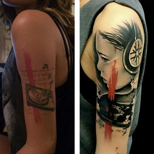 Large Cover Up Tattoo