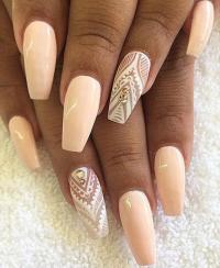 Simple Coffin Nails Ideas Pictures to Pin on Pinterest ...