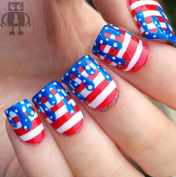 4th Of July Nail Designs Pictures to Pin on Pinterest