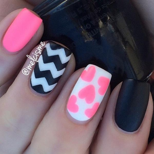 Hearts French Tips And Glitters The Greatest Binations For A Simple Clean