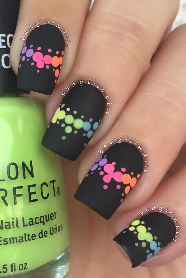 Rainbow Nail Art 30 Ideas