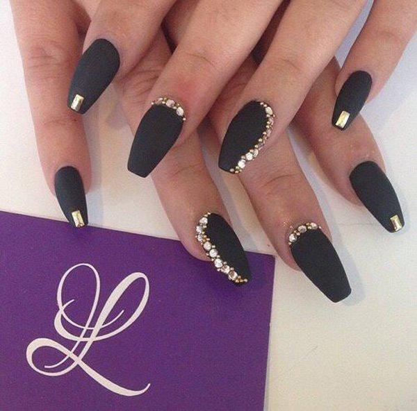 Extravagant Black With Gold Rhinestones Is Always Modern If You Re Brave And Bold