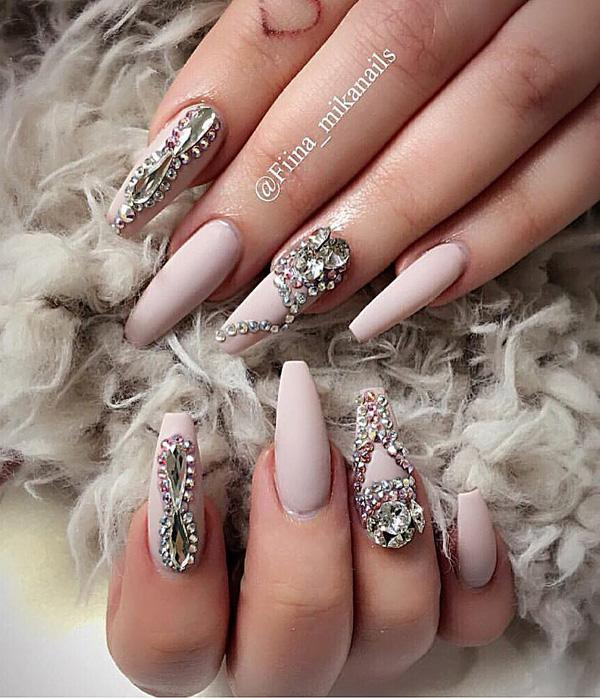Simple Nail Art With Gems Easy Designs For Short Nails Aelida