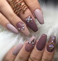 Nail Art With Rhinestones | www.imgkid.com - The Image Kid ...