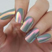chrome nail art ideas