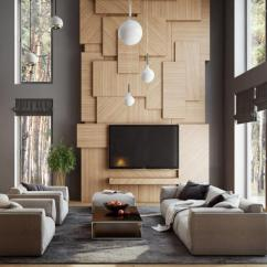 Living Room Wall Ideas With Tv Brown Sectional 50 Inspirational Art And Design 3