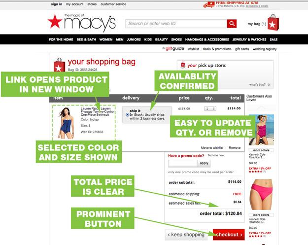 UX-Best-Practices-Macys-Cart-Page
