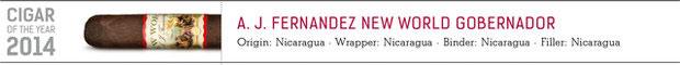 No. 1 A. J. Fernandez New World Governador