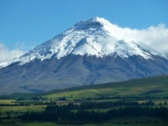 Gas emissions are visible at Cotopaxi.