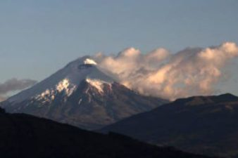 Cotopaxi releasing gas emissions on Thursday.