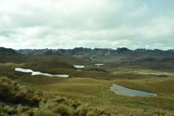 The Cajas Mountains, west of Cuenca