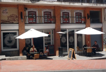 The outside tables at Ruta are a great place to hang out on a sunny day.