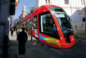 This is how the tram will look heading east down Gran Colombia in the historic distrcit.