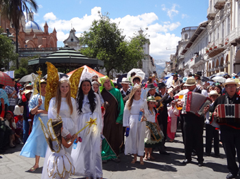The Christmas celebration in Cuenca.