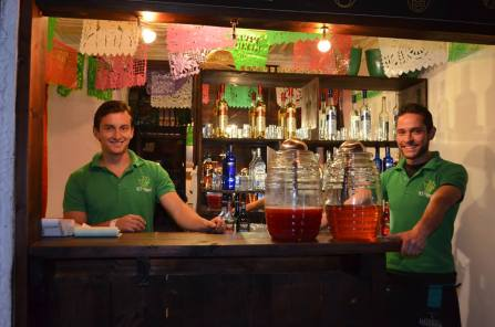 Enrique, left, and his brother take the orders at Nopal.