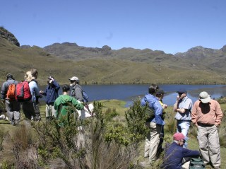 A group of expat hikers in the Cajas Mountains.