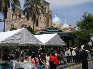Ecuador's census office says the city is attracting more foreigners.
